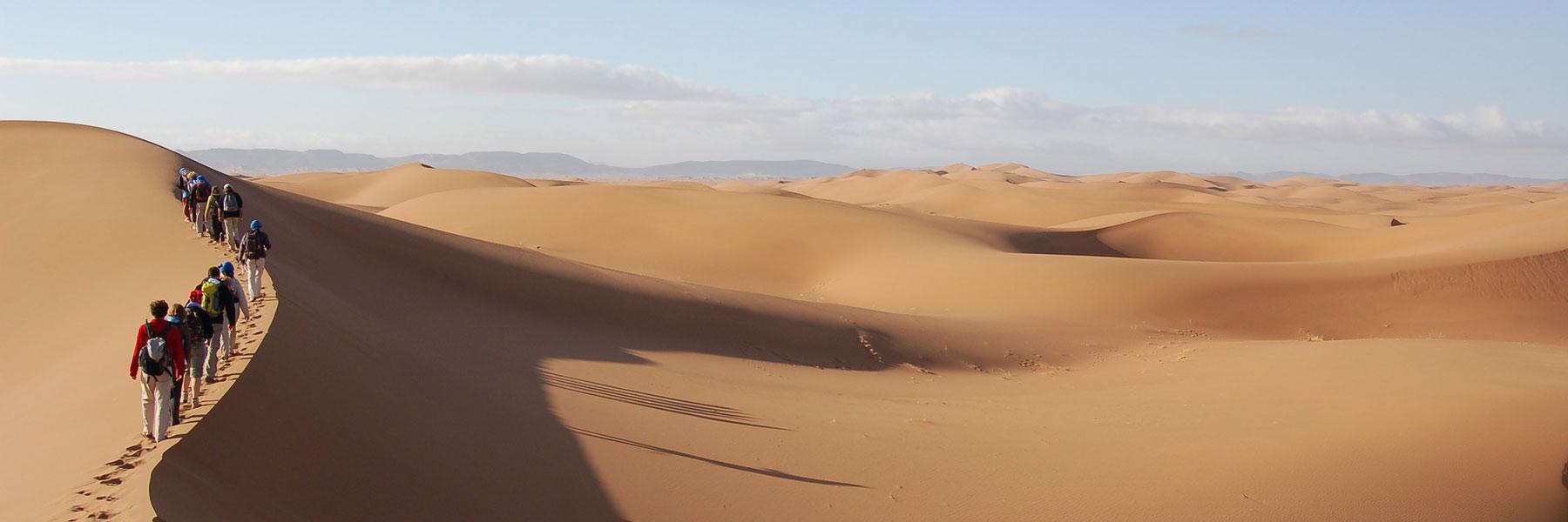 Marcheurs dans le désert